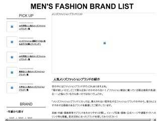 MENS FASHION BRAND LIST