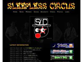 SLEEPLESS CIRCUS Official Site